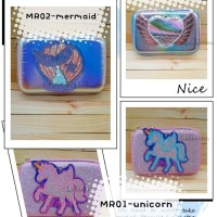 Kotak Pensil Hardcase Cermin Unicorn Mermaid Sequin model smiggle - MR