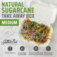 BALI Kotak Boks Tempat Makanan Nasi Foodgrade Ramah Lingkungan Bagasse