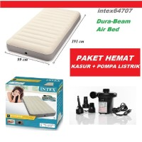 Kasur Angin HIGH QUALITY INTEX DURA BEAM TWIN POMPA LISTRIK