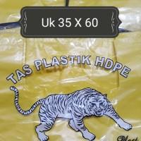 """Kresek-Kantong Plastik HDPE besar merk """"TIGER"""" 500 gram"""