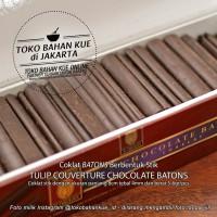 Coklat Stik Chocolate Batons Couverture Sticks Tulip EOC 52% - 500 gr