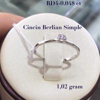 Cincin Berlian Simple Frank and Co Model