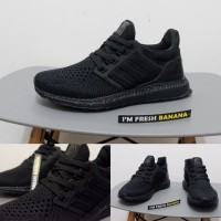 e693460acae59 Sepatu Adidas Ultra Boost Ultraboost Primeknit Flyknit 4 0 Black Cor