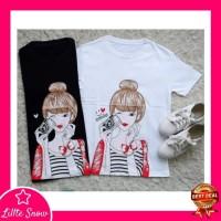 New Arrival Kaos T Shirt Lengan Pendek 825 / Baju Atasan Wanita 825 -