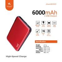 Power Bank Jete 6000Mah Jewel - Original Garansi 1 Tahun