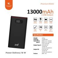 Power Bank Jete Phantom 13000Mah - Original Garansi 1 Tahun