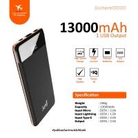 Power Bank Jete 13000Mah Solitaire - Original Garansi 1 Tahun - Hitam