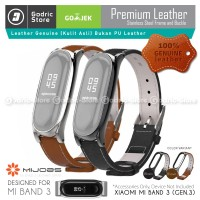 MIJOBS Xiaomi MiBand3 Leather Strap Magnetic Shell Mi Band 3 Original