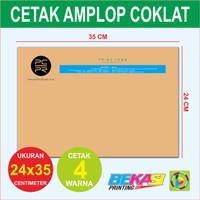 Amplop Folio Coklat - Cetak 4 Warna - Ukuran 24 x 35 cm