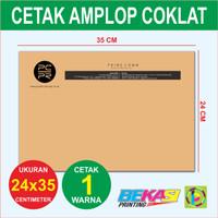 Amplop Coklat Packing Online Shop - Cetak 1 Warna - Ukuran 24 x 35 cm