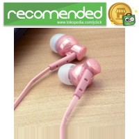 Phrodi 008 Deep Bass Earphone - POD-008 (NO BOX) - Pink