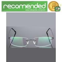 Frame Kacamata Frameless Titanium Ultra Light - 858 - Hitam