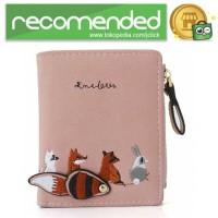 Ms. Embroidered Dompet Wanita Coin Small Animals Cute Pattern - WA346