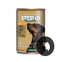 addiction 390 gr dog king salmon and potatoes entree