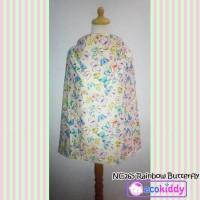 Nursing Cover Apron Penutup Menyusui Ecokiddy - Rainbow Butterfly