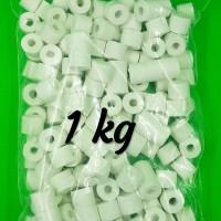 Bio Keramik Ring Filter Aquarium Repack 1 KG
