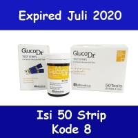 Strip GlucoDr Isi 50 BioSensor Gluco Dr Tes Gula Darah AGM-2100 50pcs