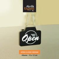 Sign open closed / open closed / sign / signage / sign akrilik
