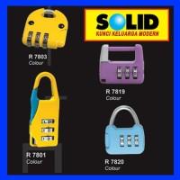 Gembok Koper / Gembok Nomor SOLID R 7803 Colour 1000755