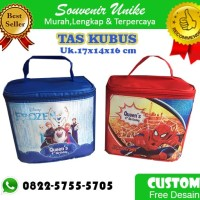 TAS KUBUS CUSTOM GOODIE BAG ULANG TAHUN ANAK UNIK MURAH LUNCH BAG