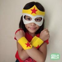 Topeng Gelang WONDER WOMAN flanel. Kostum Superhero DC.
