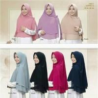 Hijab / Jilbab Khimar Aisyah Pet Sifon Polos