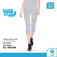 Tiento Celana Legging Wanita Leging 3/4 Pants Women Grey Original