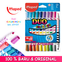 Maped Duo Color Peps set 10=20 - Duo Tip Maped 20 Colors