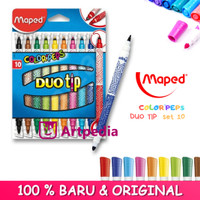 Maped Color Peps Duo Tips set 10 - Duo Tip Maped 10 Colors