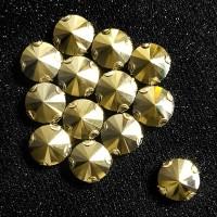Crystal Payet Jahit Cangkang Austria Rivoli 14mm - Gold Aurum