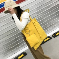 Solid Color Women Casual Simple Tote Bag
