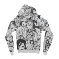 Jacket Hoodie Anime Fullprint Ahegao Face