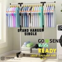 Stand Hanger MH X11Single Rack Serbaguna Dgn 4 Roda MEGAHOME