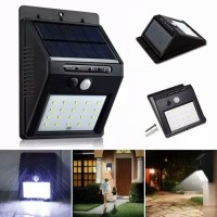 lampu solar powered wall light led sensor gerak