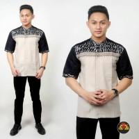 Harga baju koko pria kombinasi batik kemeja batik model koko a | antitipu.com