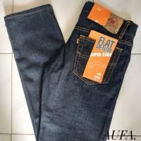 Celana Jeans Pria Lea Levis Wrangler Dongker Reguler Original Murah
