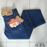 Celana Jeans Pria Lea Levis Wrangler Biru Stone Reguler Premium Murah