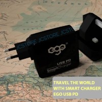 TRAVEL FAST Charger EGO 3PORT 70W QC3.0 USB-C PD WALL Charger