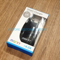 SMART CHARGER BLACK TRAVELING MARVY FOR IPHONE SAMSUNG