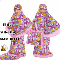 KID MUKENA HELLO KITTY/MUKENA KATUN JEPANG MOTIF ASLI/MUKENA ANAK