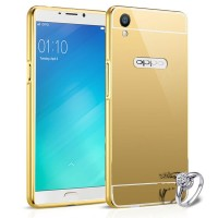 Case oppo F1 plus (R9) bumper with mirror backdoor slide