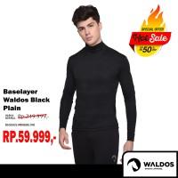 PROMO !! Baselayer Training Waldos Black Plain