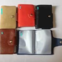 Dompet kartu card case motif bahan kulit model hermes