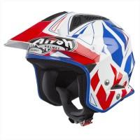 Airoh TRR S Convert Blue Gloss Trial Helm