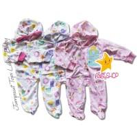 Baju Bayi Jumpsuit Topi Tutup Kaki Libby Baby Newborn NB