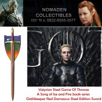 Valyrian Steel Game of Thrones Oathkeeper - Red Damascus Steel Edition