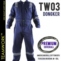 TW03 TeamWork Coverall Premium Wearpack Kerja Tebal Adem Seleting YKK