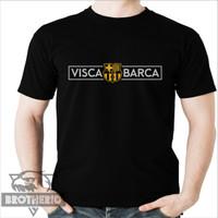Kaos Bola Visca Barca Barcelona Logo Gold