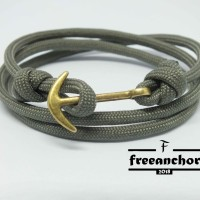 GELANG TALI PARACORD FREEANCHOR SPLIT TYLE KNOT WITH ANCHOR