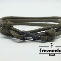 GELANG TALI PARACORD / TALI PRUSIK FREEANCHOR LOOP STYLE WITH CLIP